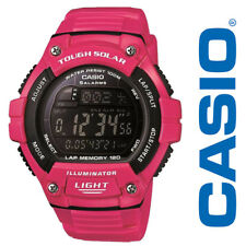 NEW Casio Women's Tough Solar Digital Water Resistant Watch WS220C-4BVCF Pink