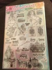 CARDMAKING/UNICORN - THE ENCHANTMENT CLEAR RUBBER STAMP SET PRINCESS /KNIGHT /