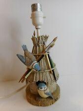 Marjolein Bastin Hallmark Nature's Sketchbook Hut Birdhouse Lamp Vintage Nice !
