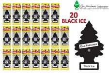 20 X BLACK ICE MAGIC LITTLE TREE CAR/HOME/VAN/OFFICE AIR FRESHENER BULK BUY