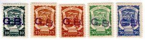 GREAT BRITAIN - COLOMBIA - SCADTA CONSULAR SET - Sc CLGB2/6 - 1921  - $ 67 RRR