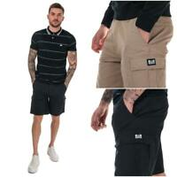 Mens Weekend Offender High Desert Cotton Shorts in Stone and Navy Blue