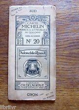 CARTE MICHELIN PREMIERE EDITION  N° 20 Gien Auxerre