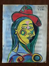 PABLO PICASSO      DRAWING SIGNED ON ORIGINAL PAPER OF THE 30s