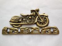 Schlüsselbrett Harley Motorrad Schlüssel 5 Haken Messing Retro MP10014204