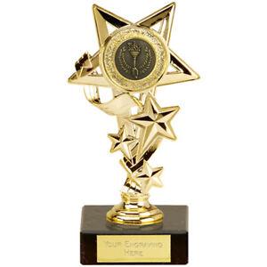 STAR ACHIEVEMENT TROPHY CASCADE WINNER TROPHY ENGRAVED FREE SMALL AWARD TROPHIES