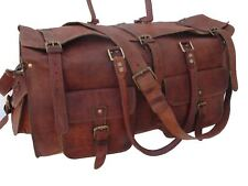 "24"" Vintage Leather Duffle Bag Gym Sports Bag Weekend Luggage AirCabin Hand Bag"