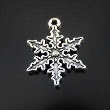 15pcs/lots Retro Silver Alloy Snowflake Jewelry Charm Pendant Craft Making 39417