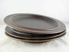 "3 Arabia of Finland Ruska Dinner Plates, 10-1/8"", brown, 4 sets available, vtg"