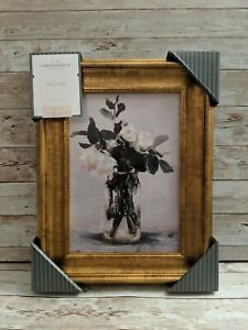 🆕 Studio McGee Threshold Target 11x14 White Floral Flower Painting Wall Art