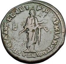 ELAGABALUS and JULIA MAESA 218AD Marcianopolis Hygeia Salus Roman Coin  i50892