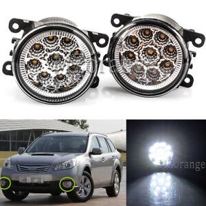 LHS+RHS Full LED Fog Light Lamp For Subaru BRZ VX Impreza Outback Levorg Liberty