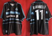 Maillot Olympique Marseille Adidas Ravanelli n° 11 Ericsson OM Vintage - XL