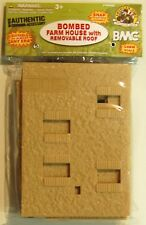 Bombed Out Farm House for plastic soldiers army men ideal for 1/32 or 54mm
