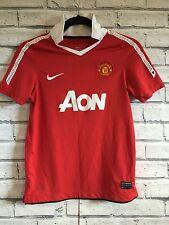 Manchester United Nike Calcio Maglia Jersey 10-12 Anni Kids TOKI sul retro A5
