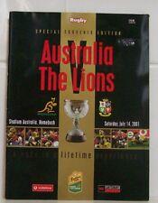 2001 Australia v British Lions programme - 3rd Test in Sydney