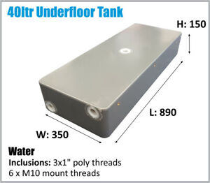 40LTR RV 4x4 SLIM UNDER UTE TRAY TANK WATER OZ MADE ASK FREIGHT PRICE