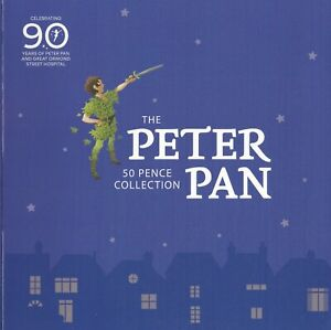 Isle of Man Fifty Pence 50p 2019 Peter Pan BU Mint Set Great Ormond Pack (MD)