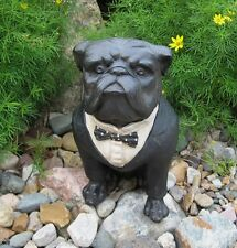 Black Tuxedo BULLDOG Dog Statue*Primitive/French Country Farmhouse Decor*NEW!