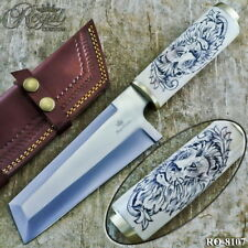 12.25' Royal Custom Made D2 Steel Scrimshaw Hunting Camping Knife Ro-8107