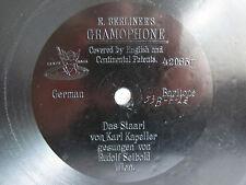 """78rpm E. BERLINER GRAMOPHONE 7"""" VIENNA - RUDOLF SEIBOLD sings DAS STAARL"""