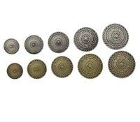 10 BOUTONS tige 1 trou métal ROSACE choix diamètre à coudre pour couture DIY