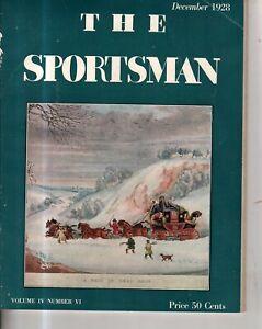1928 Sportsman - December - Red Bug; Aerobatics; moose hunting; Auto racing