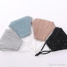 *LADIES WOMENS GIRLS* Glitter QUALITY Reusable Washable Sequined Face Masks Safe