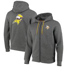 Minnesota Vikings Split Graphic Full Zip Hoodie - Charcoal - Mens