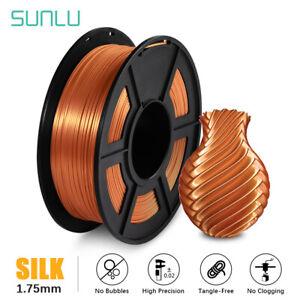 SUNLU 3D Printer Filament SILK PLA PLUS 1.7mm 1KG/2.2LB Spool Red Copper