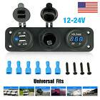 Dual Usb Port Socket Splitter Car Cigarette Lighter 1224v Charger Power Adapter