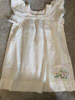 Chipie White Cotton  Dress - Age 3