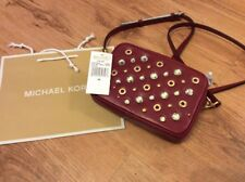 Michael Kors Cherry Leather Studded Camera Bag NEW with Tag!