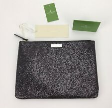 Kate Spade New York Glitterball Gia Clutch Purse - Black - NEW