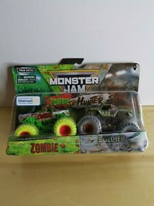 Monster Jam True Metal Zombie VS Hunter Special Edition Zombie & Soldier Fortune