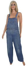 Ladies DENIM OVERALLS Blue Jeans Baggy Slouchy Carpenter Vtg Bib Romper M