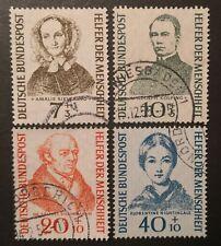 Briefmarken BRD Satz Helfer der Menschheit 1955, Mi. Nr. 222 - 225 gestempelt