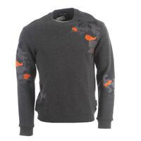 EMPORIO ARMANI Sweater Dark Grey Patchwork Cotton Blend RRP £230