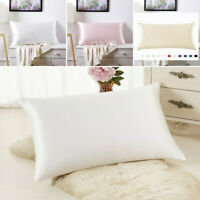 Pure Mulberry Silk anti-age Pillowcase Luxurious 25 Momme 7 colors Queen US