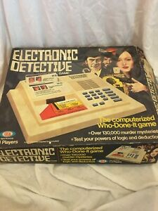 Rare Vintage 1979 Electronic Detective Game by Ideal Games Tested Working