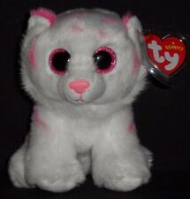 TY TABOR the PINK & WHITE TIGER BEANIE BABY - MINT with MINT TAGS