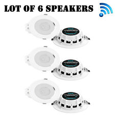 """Lot of (6) New! Pyle PDICBTL35 Bluetooth 2-Way 3.5"""" Ceiling/Wall Speakers"""