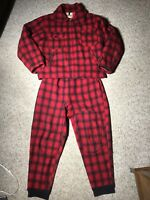 Vintage Woolrich Red Plaid Mackinaw Hunting Suit - 44 Jacket & 36 Pant Set