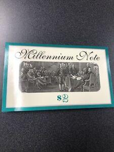 1995 $2 Atlanta Millennium Star Note Bureau Engraving Printing Started 2000****