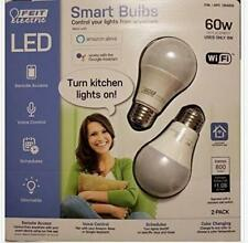 NEW FEIT Electric Smart Wi-Fi LED Color Changing Dimmable 60W Light Bulbs N/B