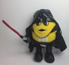 "2005 Star Wars Darth Vader Yellow M&M Plush 14"" w/ Light Saber Stuffed Toy"