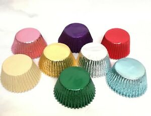 Metallic Foil Cupcake Muffin Baking Cases, Pick your Colours Free Post