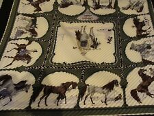 Hermes scarf, CHEVAUX   ARABES , Pleated  ! new  with box and ribbon
