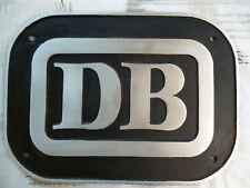 Deutsche Bahn DB Schild Keks gross Aluminium Silizium Guss  handgeschliffen