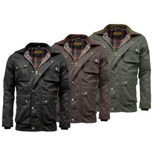 Game Mens Utilitas Jacket Rugged Utility Style Wax Coat